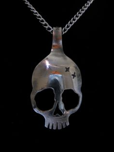 mini skull spoon necklace. $40.00, via Etsy.