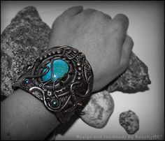 Cuff wide bracelet fashion jewellery polymer clay by SweetlyART, $56.00