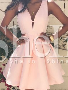 Shop Pink Sleeveless Flare Dress online. SheIn offers Pink Sleeveless Flare Dress & more to fit your fashionable needs.