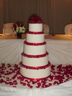 Roses and cake: lovely!