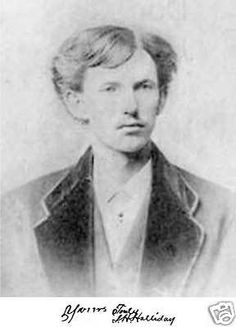 "John Henry ""Doc"" Holliday 1851-1887.  Photo is the graduation photo from Dental School 1872. Most of the more known photos circulating are not Doc."