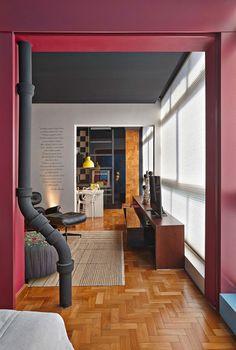 Project Belo Horizont - Réalisation de l'architecte :  Gislene Lopes    Marsala Pantone couleur 2015