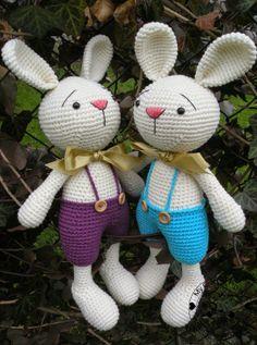 My Crochet Privacy ...: Króliczki Elroy i Zach/ Elroy and Zach the Bunnies
