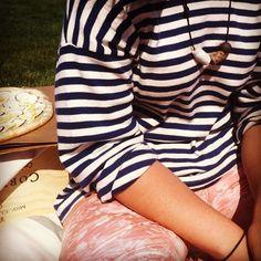 Combine stripes with tie-dye #splendideveryday