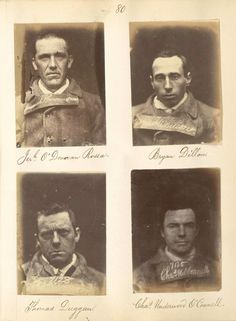 O'Donovan Rossa, Bryan Dillon, Thomas Duggan, Charles Underwood O'Connell (1866) from Mountjoy Prison: Portraits of Irish Independence at New York Public Library