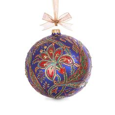 Shop Limited Edition 2017 Opulent Ornament from Jay Strongwater at Horchow, where you'll find new lower shipping on hundreds of home furnishings and gifts. Ball Ornaments, Glass Christmas Ornaments, Christmas Balls, Christmas Decorations, Holiday Decor, Paisley Drawing, Jay Strongwater, Homemade Christmas, Neiman Marcus