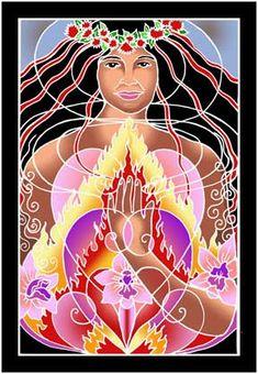 Pele Banner ~ Hawai'ian Earth & Fire Goddess (B32)