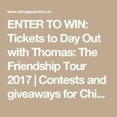 ENTER TO WIN: Tickets to Day Out with Thomas: The Friendship Tour 2017 | Contests and giveaways for Chicago parents | ChicagoParent.com