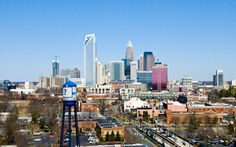 New York Times features Charlotte as young, transit-friendly city - Charlotte Center City Partners Charlotte Carolina, Charlotte City, North Carolina, Urban Beauty, Cultural Events, City Photography, New York Times, San Francisco Skyline, New York Skyline