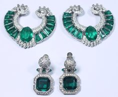 Vintage Early KTF Trifari Costume Jewelry, Emerald Green Dress Clips & Earrings | Jewelry & Watches, Vintage & Antique Jewelry, Costume | eBay!