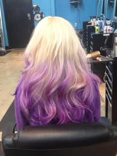 Pastel purple ombré