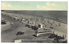 BROUGHTY FERRY The Beach, Old Cars and Bus, Postcard by Valentine, Unused | Collectables, Postcards, Topographical: British | eBay!