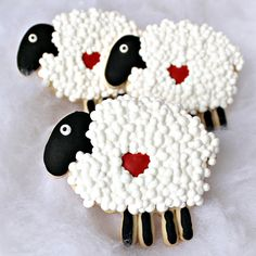Baking In Heels-I Love Ewe Cookies