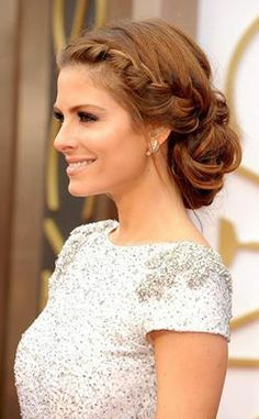 Loose braided low bun