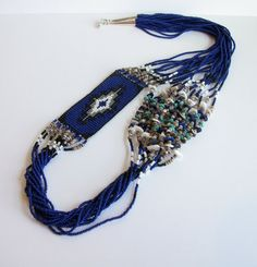 ON SALE  Necklace  Navajo Beaded Rug Design  by SweetwaterDreams, Kristina (Diné, Hopi) on Etsy