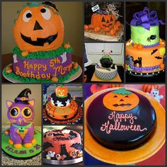 A lot of practical fallhalloween DIY cake ideas First Birthday