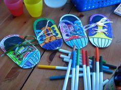 bricolage enfants : les p'tits pieds canadiens