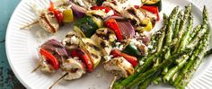 Fun and tasty! A rosemary-lemon marinade gives these grilled kabobs loads of flavor.