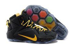 5c504d69b4949a Nike LeBron 12 P.S. Elite Black Yellow