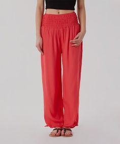 Love this Izabel: Coral Harem Trousers by Izabel on #zulily! #zulilyfinds