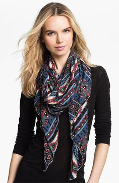POVERTY FLATS by rian Tribal Scarf available at #Nordstrom