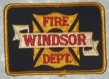 Windsor Fire Dept Patch - Connecticut - vintage