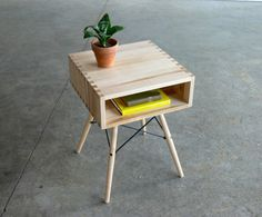 Mid Century Modern Inspired Side Table