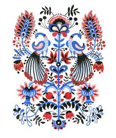 "Elena Kravchenko  - Print ""Peacocks """