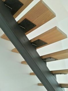 Staircase Design Modern, Stair Railing Design, Home Stairs Design, Interior Stairs, Home Room Design, House Design, Welded Furniture, Steel Stairs, Stairs Architecture
