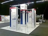 Free-standing exhibition stand display