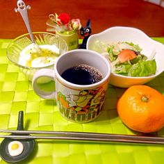 今朝の自宅モーニング☕️ - 57件のもぐもぐ - サラダ&ヨーグルト by manilalaki