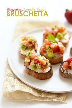 Strawberry, Avocado, Quinoa Bruschetta with Goat Cheese - Fit Foodie Finds