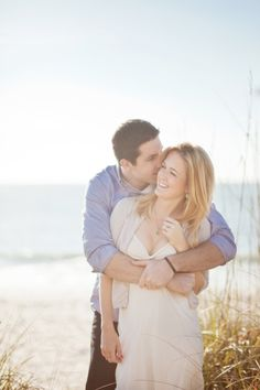 beautiful beach engagement shoot