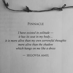 """""""Pinnacle"""" from my book, """"Ophelia Wears Black"""" written by Segovia Amil"""