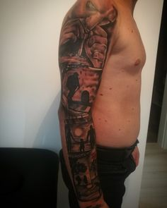 Full sleeve Tattoo  #aboutlife #family #tattoo #sleeve