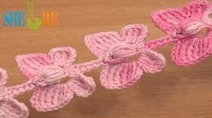 Crochet Butterfly Cord Tutorial 52 Crochet Butterflies - YouTube.. these would be cute in Madisons room as curtain tie backs :)