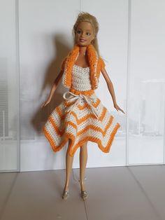 Barbie Crochet Set Barbie Dress, Summer Dresses, Crochet, Diy, Fashion, Creative Crafts, Creativity, Moda, Summer Sundresses