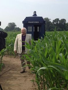 But luckily the Sixth Doctor - Colin Baker - appeared to intercept. Colin Baker, Big Finish, Classic Doctor Who, Watch Doctor, Dalek, Good Doctor, Blue Box, Dr Who, Tardis