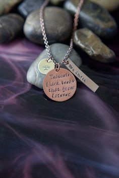 SALE - Gift for Teacher - Teacher Necklace - Teachers Plant Seeds That Grow Forever on Etsy, $18.88