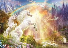 Educa's Unicorns at Sunset jigsaw puzzle, features fantasy art by Jan Patrik Krasny. Fantasy Kunst, Fantasy Art, Magical Creatures, Fantasy Creatures, Unicorns, Unicorn And Fairies, Unicorn Wall Art, Unicorn Pictures, Unicorn Pics