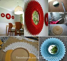 #mirror#plasticspoons#DIY#recycle#creative#DIYdecorations