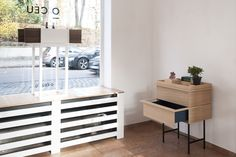COLLAGE-S sideboard and DOURO bar cabinet at our PopUpStore // A.P.R. at Hofgarten, München.