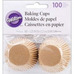 Wilton Unbleached Mini Baking Cups 100 Count ** To view further for this item, visit the image link.