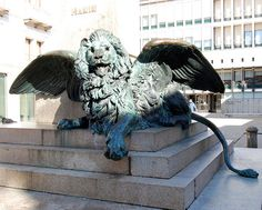 Winged Lion in San Marco, Venice, Italy