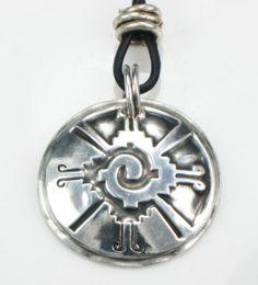 Hunab Ku fine silver pendant represents the symbol of the Creator God in the Mayan culture.  www.Etsy.com/shop/EspritMystique