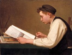 The Young Student by Ozias Leduc born October 1864 in Saint Hilaire (Quebec), Canada died June 1955 in Saint Hyacinthe (Quebec), Canada Caspar David Friedrich, Canadian Painters, Canadian Artists, Ottawa, Art Inuit, People Reading, Common Core Writing, Art Of Manliness, Frederick Douglass