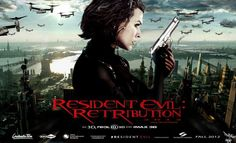 A brand new banner has arrived for Paul W. Anderson's upcoming Resident Evil: Retribution, the fifth entry in the Resident Evil franchise starring Milla Jovovich. Resident Evil 5, Resident Evil Extinction, Streaming Movies, Hd Movies, Movies To Watch, Movie Tv, Horror Movies, Movie Shelf, Films