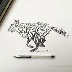 beautiful-pen-ink-animal-trees-illustrations-nature-drawings (10)
