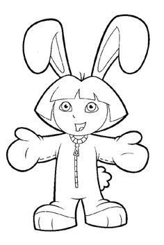 Free Dora The Explorer Coloring Page Pages 5 Printable