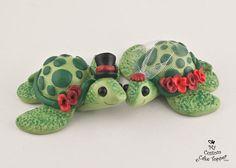 Love Turtles Wedding Cake Topper Custom by MyCustomCakeTopper
